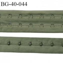 Bande Agrafe de 43 mm de hauteur et 2 rangés pour soutien gorge couleur kaki clair fabriqué en France prix au mètre