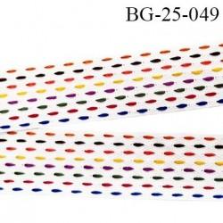 biais galon 25 mm tissé très solide coton et synthétique fabriqué pour une grande marque Française largeur 25 mm prix au mètre