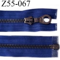 fermeture zip très haut de gamme RIRI superbe longueur 55 cm couleur bleu roi séparable largeur 30 mm glissière métal  6 mm
