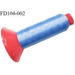 Destockage Cone 2500 m fil mousse polyamide n°120 couleur bleu longueur 2500 mètres  bobiné en France