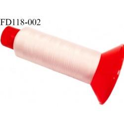 Destockage Cone 2500 m fil mousse polyamide n°120 couleur rosé chair longueur 2500 mètres  bobiné en France