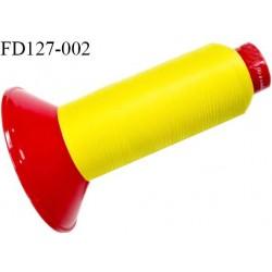 Destockage Cone 2500 m fil mousse polyamide n°120 couleur jaune vif longueur 2500 mètres  bobiné en France