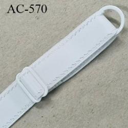 Bretelle 16 mm lingerie SG couleur blanc très haut de gamme finition avec 1 barettes + 1 anneau prix a la pièce