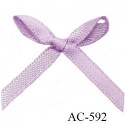 Noeud 30 mm lingerie couleur lilas haut de gamme largeur 30 mm hauteur 25 mm haut de gamme