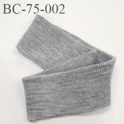 Bord-Côte 73 mm acrylique bord cote largeur 73 mm longueur 68 cm couleur gris chiné prix a la pièce