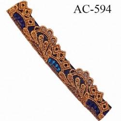 Devant attache bretelle haut de gamme une grande marque Française nuit ambre très très joli longueur 13.2 cm hauteur 25 mm