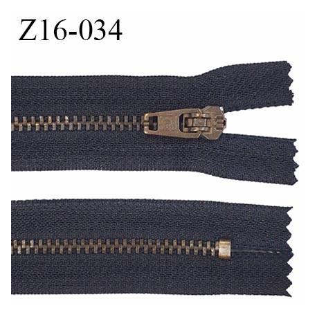fermeture zip haut de gamme RIRI superbe longueur 16 cm couleur anthracite non séparable largeur 21 mm glissière laiton 4 mm