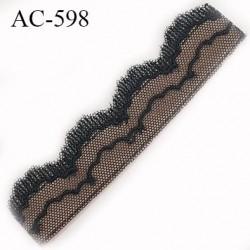 Devant attache bretelle haut de gamme une grande marque Française noir et chair très très joli longueur 11.5 cm hauteur 28 mm