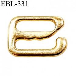 Crochet métal 8 mm  couleur doré or largeur intérieur de passage de bretelle 8 mm haut de gamme