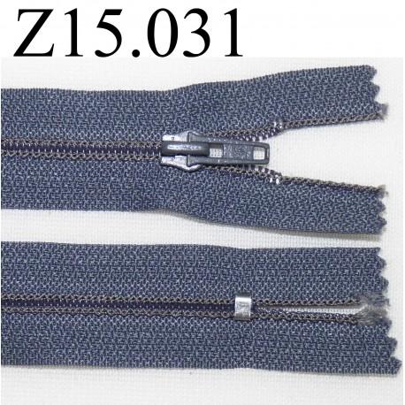 fermeture éclair longueur 15 cm couleur marron non séparable  zip nylon largeur 2.5 cm