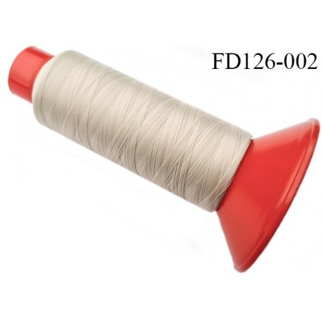 Destockage Cone 2500 m fil mousse polyamide n°120 couleur mastic longueur 2500 mètres  bobiné en France