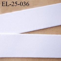 élastique 25 mm aspect velours spécial lingerie et sport très belle qualité couleur blanc doux certifié oeko tex prix au mètre