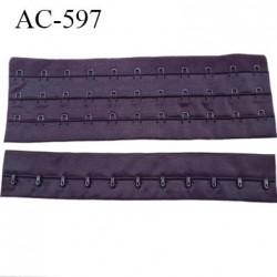 Bande Agrafe de 55 mm de hauteur et 3 rangés pour soutien gorge largeur de 21 cm avec 11 crochets couleur byzance