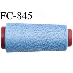 Cone de fil mousse 1000 mètres polyamide fil n° 100/2 couleur bleu longueur 1000 mètres bobiné en  France