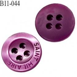 bouton 9 mm  pvc très haut de gamme st hilaire bouton de grande marque couleur violet 4 trous diamètre 9 millimètres