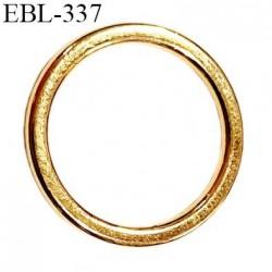 anneau métallique 16 mm couleur or doré  brillant  pour soutien gorge diamètre intérieur 16 mm prix à l'unité haut de gamme