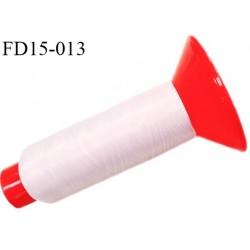 Destockage Cone 2500 m fil mousse polyamide n°120 couleur rose poudre longueur 2500 mètres  bobiné en France