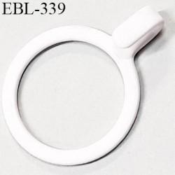 Anneau crochet métallique 14 mm  blanc brillant laqué pour soutien gorge diamètre intérieur 14 mm prix à l'unité haut de gamme