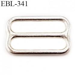 boucle de réglage 15 mm  réglette  argent vernis pour soutien gorge largeur intérieur 15 mm  haut de gamme