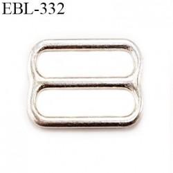 boucle de réglage 10 mm  réglette  argent vernis pour soutien gorge largeur intérieur 10 mm  haut de gamme