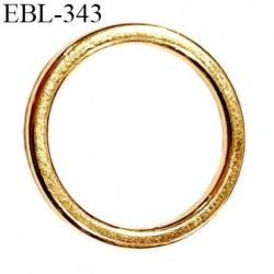 Anneau métallique 9 mm couleur or doré  brillant  pour soutien gorge diamètre intérieur 9 mm prix à l'unité haut de gamme