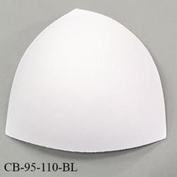Coque triangle taille bonnet 95/110 couleur blanc haut de gamme prix à la pièce