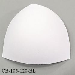Coque triangle taille bonnet 105/120 couleur blanc haut de gamme prix à la pièce