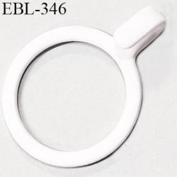 Anneau crochet métallique 11 mm  blanc brillant laqué pour soutien gorge diamètre intérieur 11 mm prix à l'unité haut de gamme