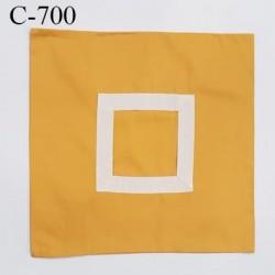Housse de coussin coton à broder 40 X 40 cm couleur orange