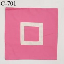 Housse de coussin à broder 40 X 40 cm couleur rose