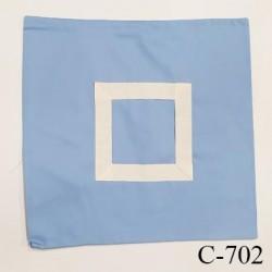 Housse de coussin à broder 40 X 40 cm couleur bleu