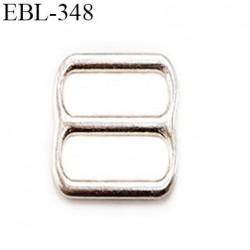 Boucle de réglage 6 mm  réglette en argent vernis pour soutien gorge largeur intérieur 6 mm  haut de gamme