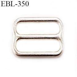 Boucle de réglage 12 mm  réglette en argent vernis pour soutien gorge largeur intérieur 12 mm  haut de gamme