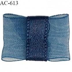 Noeud 18 mm lingerie haut de gamme couleur bleu cyprès largeur 18mm hauteur 12mm