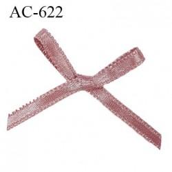 Noeud satin 25 mm lingerie haut de gamme couleur terre cuite satiné largeur 25 mm hauteur 20 mm