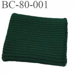 Bord-Côte 80 mm acrylique poignet ou bas de pantalon longueur 85 mm largeur 80 mm couleur vert bouteille  prix a la pièce