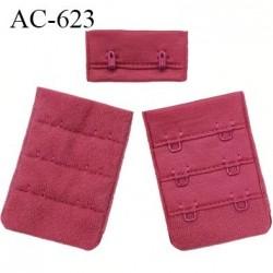 Agrafe attache 38 mm rallonge extension de soutien gorge 2 crochets largeur 38 mm couleur géranium réglable sur 3 niveaux