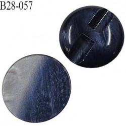 Bouton 28 mm haut de gamme nacré gris et bleu nuit diamètre 28 mm