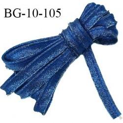 Biais galon 10 mm passepoil fabrication française couleur bleu nuit brillant