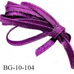 passepoil 10 mm couleur violet brillant superbe largeur 10 mm  lien cordon coton intérieur 2 mm  largeur 10 mm  prix du mètre