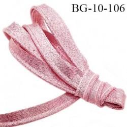 Passepoil 10 mm couleur rose brillant superbe largeur 10 mm  lien cordon coton intérieur 2 mm  largeur 10 mm  prix du mètre