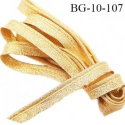 Passepoil 10 mm couleur or gold brillant superbe largeur 10 mm  lien cordon coton intérieur 2 mm  largeur 10 mm  prix du mètre