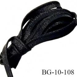 Passepoil 10 mm couleur noir brillant superbe largeur 10 mm  lien cordon coton intérieur 2 mm  largeur 10 mm  prix du mètre