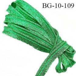 Passepoil 10 mm couleur vert brillant superbe largeur 10 mm  lien cordon coton intérieur 2 mm  largeur 10 mm  prix du mètre