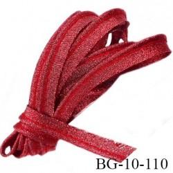 Passepoil 10 mm couleur rouge brillant superbe largeur 10 mm  lien cordon coton intérieur 2 mm  largeur 10 mm  prix du mètre