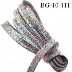 Passepoil 10 mm couleur arc en ciel brillant superbe largeur 10 mm  lien  coton intérieur 2 mm  largeur 10 mm  prix du mètre