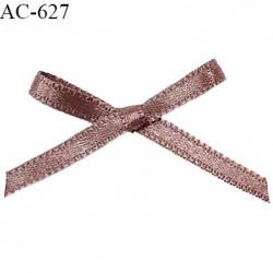 Noeud lingerie satin 38 mm haut de gamme couleur bois de rose largeur 38 mm hauteur 24 mm