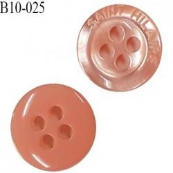 Bouton 10 mm très haut de gamme Saint Hilaire pvc couleur saumon 4 trous