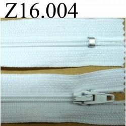 fermeture éclair longueur 16 cm couleur blanc non séparable zip nylon largeur 2.5 cm