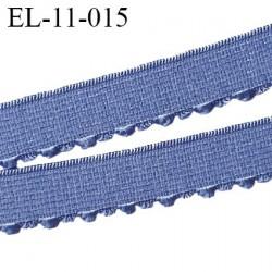 élastique 11 mm picot lingerie couleur aigue marine superbe largeur 11 mm prix au mètre